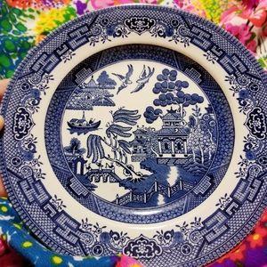 "churchill Dining - VTG Churchill England Blue Willow 8"" Plate"